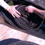 unrolling the chimney liner
