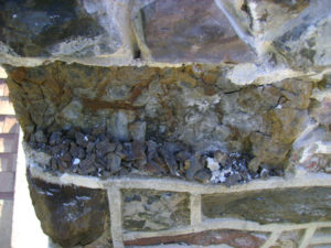 water damaged masonry