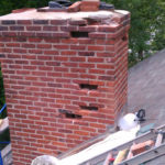 A chimney in desperate need of repair!