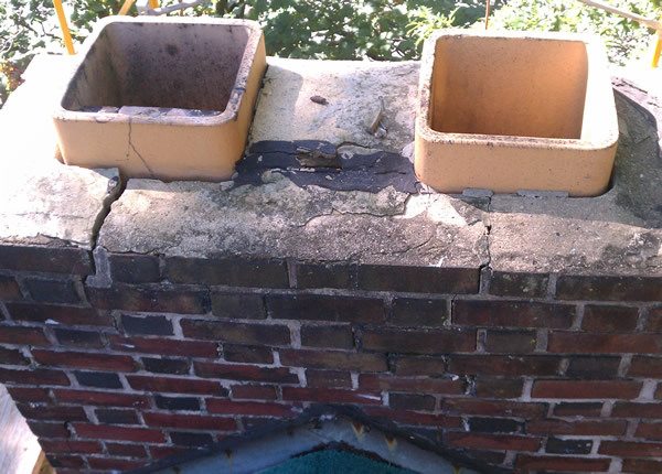 leaking chimney cap