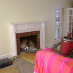 fireplace almost restored
