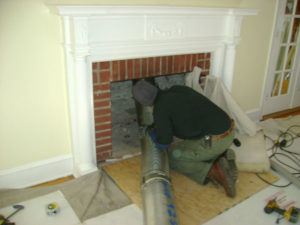 fireplace liner installation