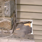 roofing shingles can hide holes in chimney flashing