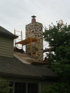 Example of Antrim's Chimney Repair